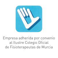 Empresa adherida por convenio al Ilustre Colegio Oficial de Fisioterapeutas de Murcia