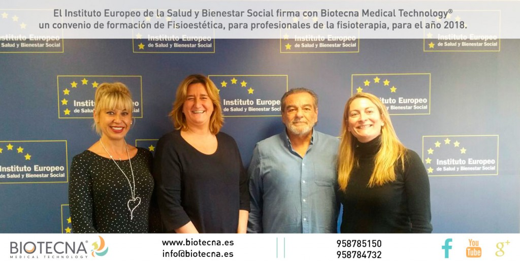 Firma Convenio Biotecna & Instituto Europeo de Salud y Bienestar Social
