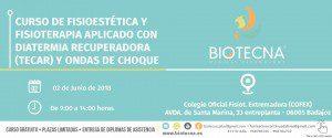 Curso de Fisioestética y Fisioterapia, aplicado con Diatermia Recuperadora (TECAR) y Ondas de choque. Badajoz, junio 2018 @ Colegio Oficial Fisioterapia Extremadura (COFEX)   Badajoz   Extremadura   España