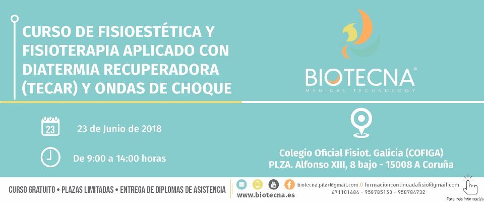 BANNER CURSO BIOTECNA FISIO 23-06-2018 A CORUÑA