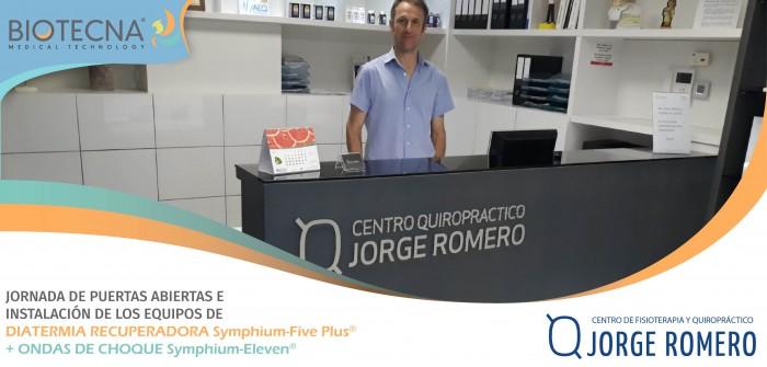 Biotecna. JORNADA DE PUERTAS ABIERTAS Centro Fisioterapia y Quiropráctico Jorge Romero