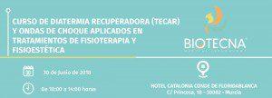 Curso de Diatermia Recuperadora (TECAR) y Ondas de Choque aplicados en tratamientos de Fisioterapia y Fisioestética. Murcia, junio 2018 @ Hotel Catalonia Conde de Floridablanca | Murcia | Región de Murcia | España