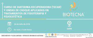 Curso de Diatermia Recuperadora (TECAR) y Ondas de Choque aplicados en tratamientos de Fisioterapia y Fisioestética. Gijón, julio 2018 @ Gijón | Principado de Asturias | España