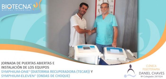 Biotecna y CENTRO DE FISIOTERAPIA DANIEL CHAVES. JORNADA DE PUERTAS ABIERTAS