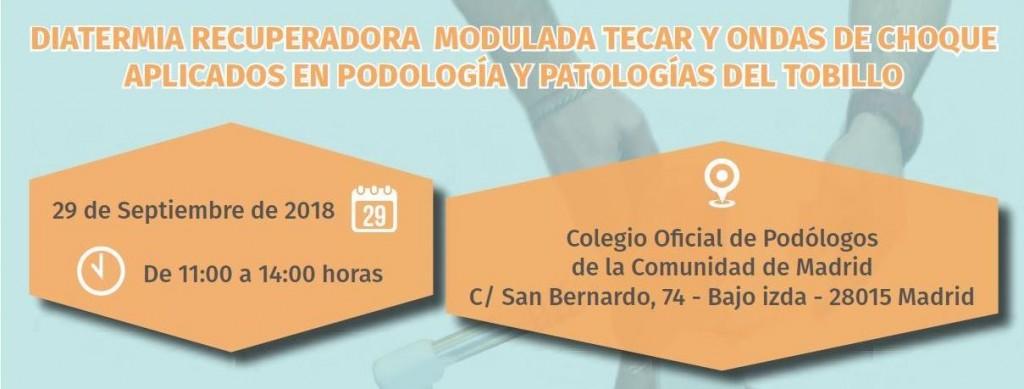 2018-09-29 - Cabecera Curso de Podología (Madrid)