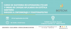 Curso de Diatermia Recuperadora (TECAR) y Ondas de Choque aplicados en Estética Sanitaria. Madrid, septiembre 2018 @ FUNWAY (Académic Resort) | Madrid | Comunidad de Madrid | España