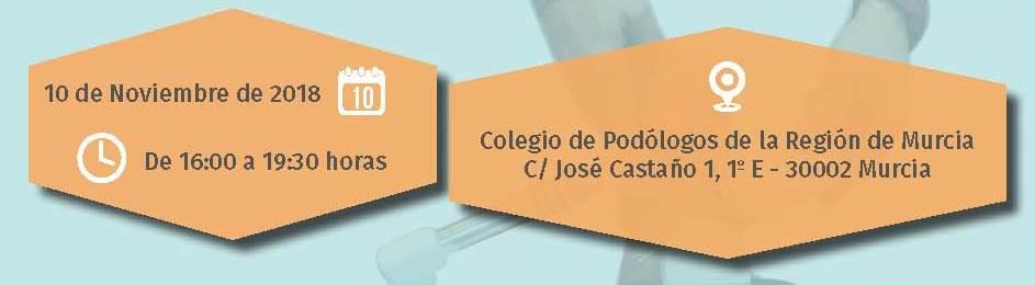 2018-11-10 - Cabecera Curso de podología MURCIA
