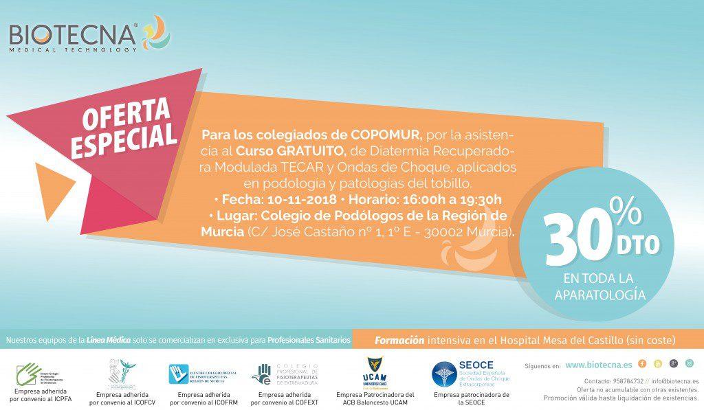 2018-11-10 - Curso de podología MURCIA OFERTA ESPECIAL COPOMUR