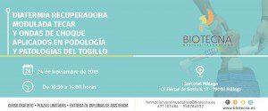 Curso de Diatermia Recuperadora (TECAR) y Ondas de Choque aplicados en Podología y Patología del Tobillo. Málaga, noviembre 2018 @ Sercotel Málaga | Málaga | Andalucía | España