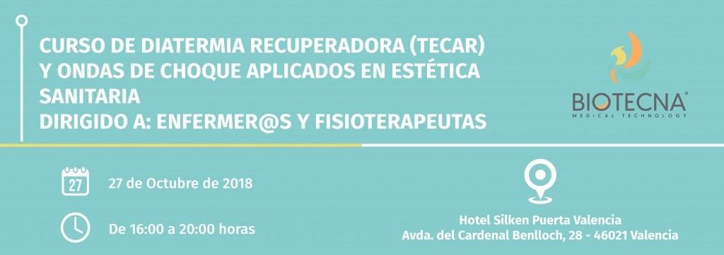 Biotecna. Cabecera Curso de estética sanitaria. Valencia. Septiembre 2018