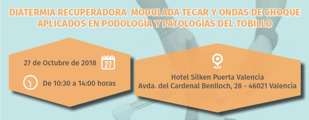 Biotecna. Cabecera Curso de podología. Valencia. Octubre 2018