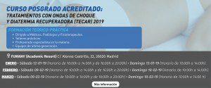 CURSO POSGRADO. TRATAMIENTOS CON ONDAS DE CHOQUE Y DIATERMIA RECUPERADORA (TECAR) 2019 @ FUNWAY (Academic Resort)