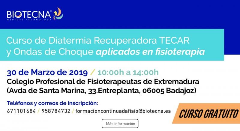 2019-03-30 - Curso Fisioterapia Badajoz - Banner