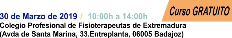 2019-03-30 - Curso Fisioterapia Badajoz - Cabecera