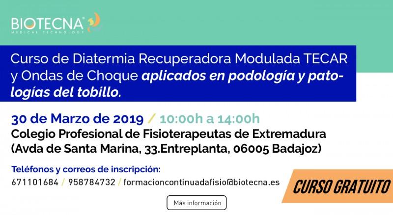 2019-03-30 - Curso Podologia Badajoz - Banner