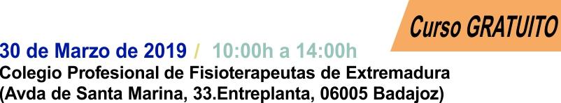 2019-03-30 - Curso Podologia Badajoz - Cabecera