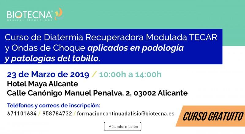2019-03-23 - Curso Podología Alicante - Banner