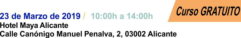 2019-03-23 - Curso Podología Alicante - Cabecera