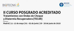 IIº CURSO POSGRADO. TRATAMIENTOS CON ONDAS DE CHOQUE Y DIATERMIA RECUPERADORA (TECAR) 2019 @ FUNWAY (Academic Resort)