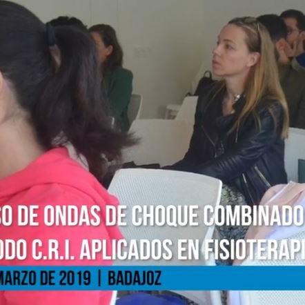 Curso de Ondas de Choque combinado con el Método C.R.I aplicado en fisioterapia. 30 de Marzo de 2019 | BadajozCurso de Ondas de Choque combinado con el Método C.R.I aplicado en fisioterapia. 30 de Marzo de 2019 | Badajoz